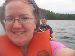 Angela and Kurtis canoeing