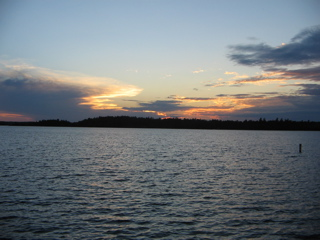 Lake Burntside at sunset
